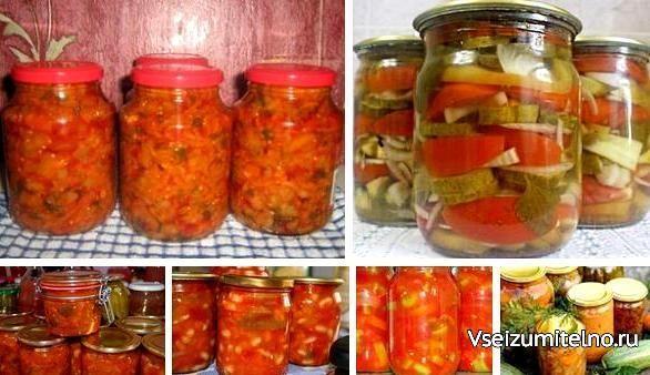 13 овощных САЛАТОВ на зиму!!!  В сегодняшней подборке рецепты овощных салатов, которые зимой обогатят наш рацион витаминами и необходимыми организму минеральными элементами.  Каждый салат – хорошее дополнение к любому блюду из мяса, птицы или рыбы. 2-3 ложки салата, добавленного в суп, щи или борщ, изменят их вкус и придадут первым блюдам особую пикантность. В любом случае для каждой хозяйки хороший салат в зимнее время всегда будет палочкой-выручалочкой.  Салат «Молодчик»  Потребуется: 2 кг…