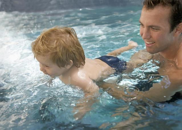 Should a scared child continue swimming lessons? Many parents are quick to take the easy way out when the child doesn't like something right away, like swim lessons. They think