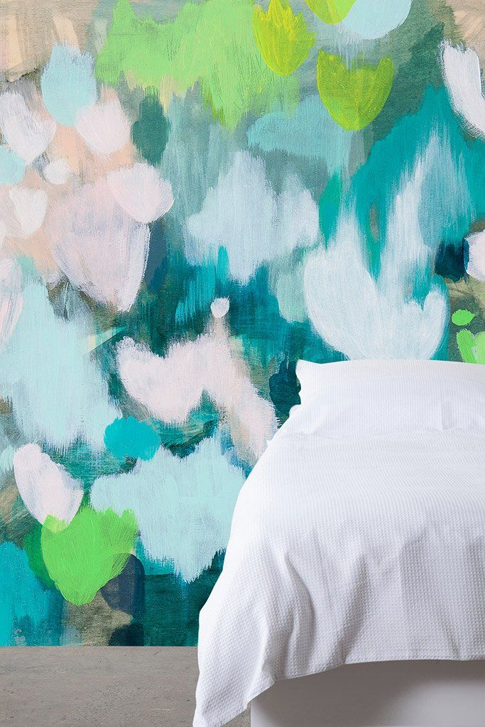 Wall paper mural collaboration: Belinda Marshall x Scandinavian Wallpaper & Decor 'placed'. original photo by Fleck Photography.