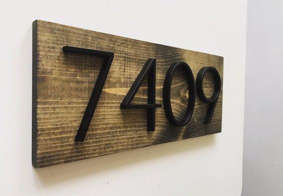 Moderne rustieke adres Plaque / / stadsvilla door SparrowandScout