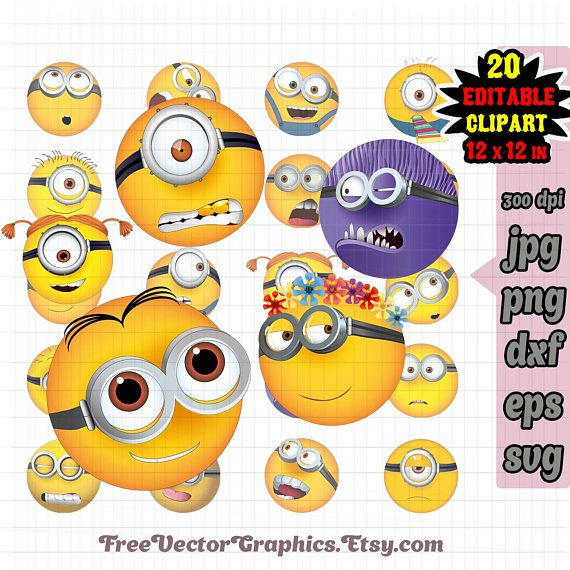10 best new emoji 2017 the emoji movie svg vector format eps png editable vector minion emoji svg minion birthday svg minions party supplies minions printable clipart minions clipart stopboris Images