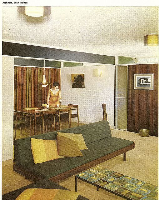 "House By John Dalton  ""Australian Book of Furnishing And Decorating"" c 1965"