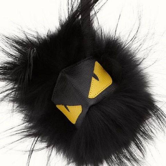 Fendi monster keychain Inspired brand new fendi monster with logo.                                                                       Made with soft black fur /reflects authentic/Great condition/no box FENDI Other