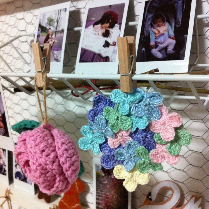 Flowers Crochet Motif.  #crochet #flower #motif #decoration #pastels_#colors #cute #ornament #room