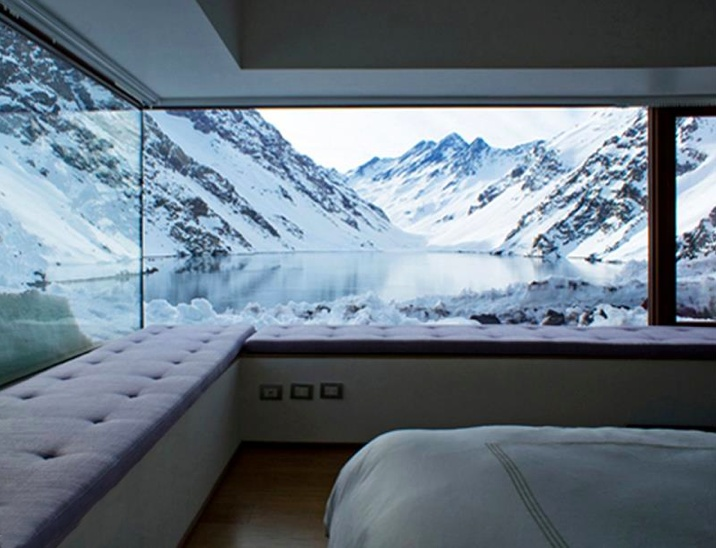 Located on the Andes mountains in Chile,