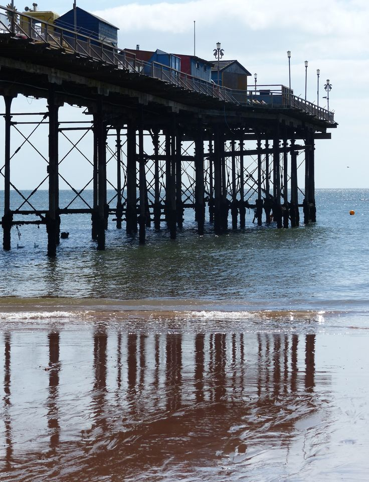 Reflections from Teignmouth pier