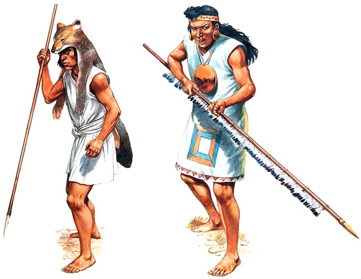 """Mapuche warrior & Cañari warrior"", Peter Dennis"