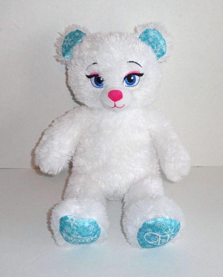 Build-a-Bear Frozen ELSA Plush Disney Princess White Teddy  #BuildaBear #toys #stuffedanimals