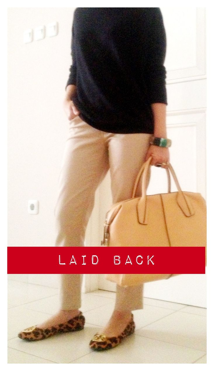 laid back sunday... #tods #bauletto #D-Bag  #zara shirt #giordano slim tappered pants #toryburch flats