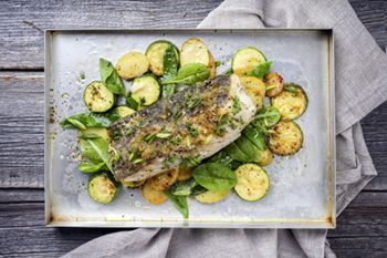 Easy Sheet Pan Baked Fish with Vegetables - 31 Daily