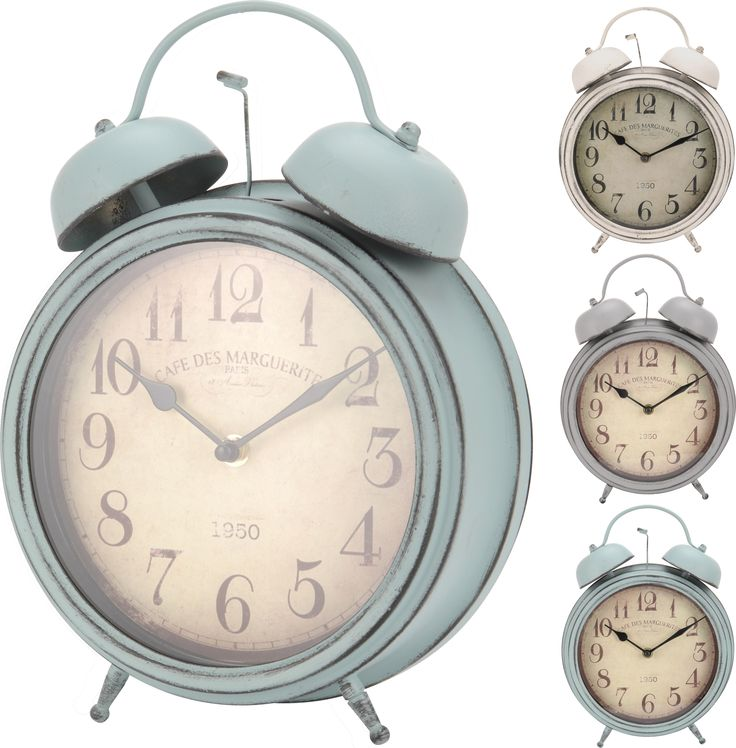 Vintage Retro Alarm Clock Effect Quartz Mantelpiece Free Standing Table Clocks