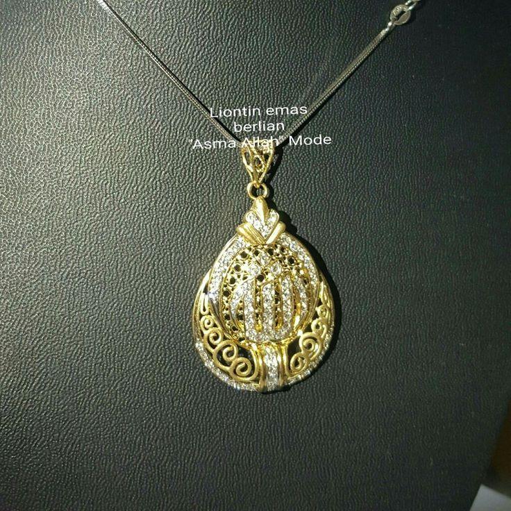 "New Arrival🗼. Liontin Emas Berlian ""Asma Allah"" Mode💍💎.   🏪Toko Perhiasan Emas Berlian-Ammad 📲+6282113309088/5C50359F Cp.Dewi👩.  https://m.facebook.com/home.php  #investasi #diomond #gold #beauty #fashion #elegant #musthave #tokoperhiasanemasberlian"