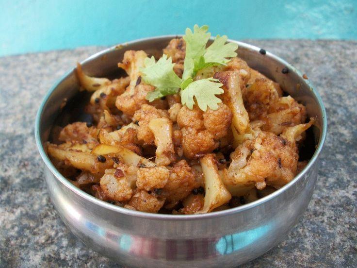 YUMMY TUMMY: காளிஃபிளவர் பொரியல் / Cauliflower Poriyal / Gobi Poriyal – Curry in a Hurry