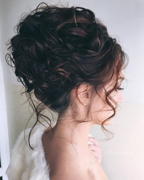 Outstanding 1000 Ideas About Curly Hair Updo On Pinterest Hair Updo Curly Short Hairstyles Gunalazisus