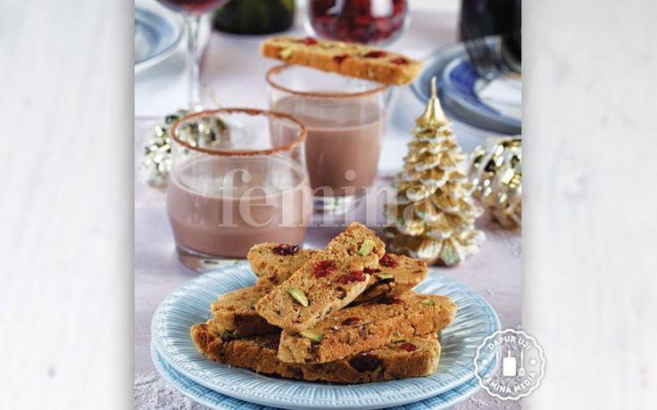 Resep Pistachio Cranberry Biscotti
