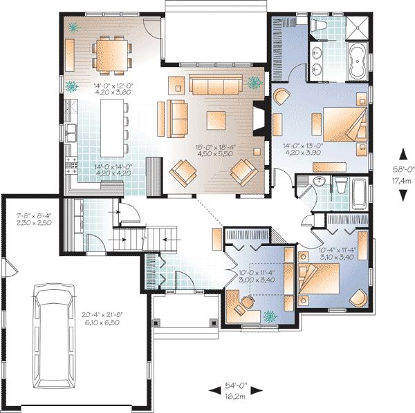 Perfect Flexible Family Home Plan DR st Floor Master Suite Bonus Room CAD