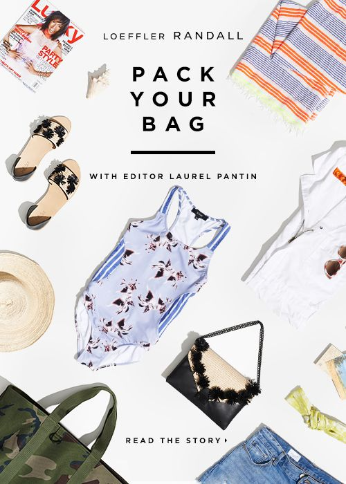 A simple flat lay at an angle. The text is simple and to the point, and the items featured directly correlate.