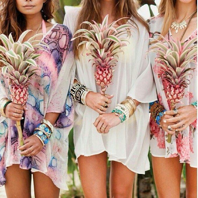 Des bouquets ananas pour les demoiselles d'honneur