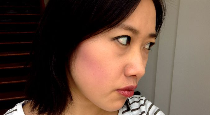 How to wear: Purple eyeshadow as contour. Source: Supplied.