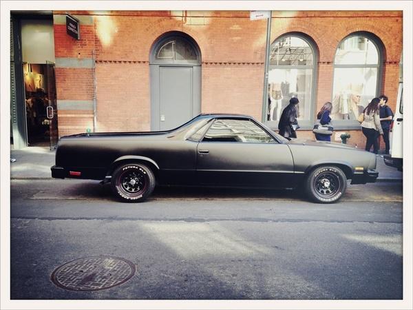 Chevy El Camino - Prince Street, NYC omg wow