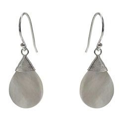 White Shell Teardrop Earrings - Ottawa Jewellery Store - Bija Bijoux
