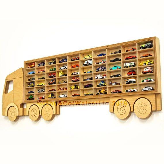 Hot Wheels Toy Car Storage Display 60 Cars Christmas Or Etsy In 2020 Toy Car Storage Hot Wheels Cars Toys Car Storage