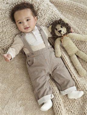 Mit dem raffinierten Vertbaudet Jungen Set aus Body und Thermohose ist Ihr Baby zu jedem Anlass chic angezogen.