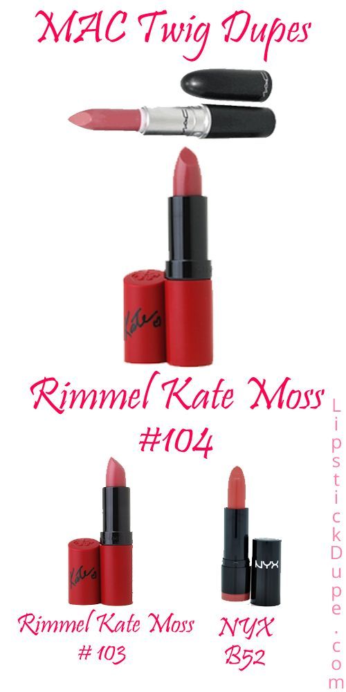 There's a few people from Twitter looking for MAC Twig Lipstick Dupes, and I am one to oblige! Rimmel...