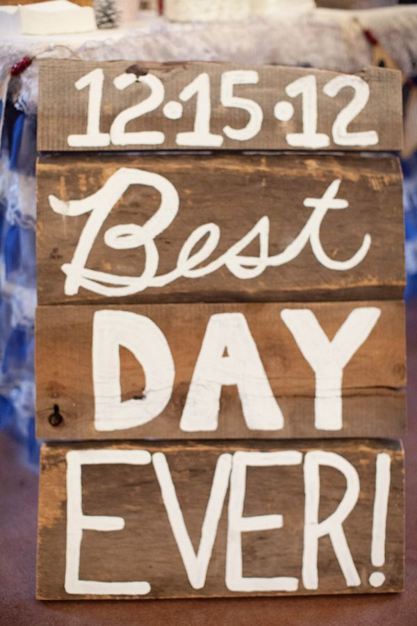 Wedding sign - this winter wedding was adorable - but could be cute birthday party sign, anniversary, retirement or graduation. Fun & playful!