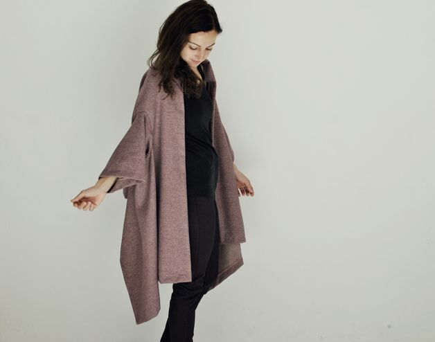 poncho cape coat minimal fashion avantgarde
