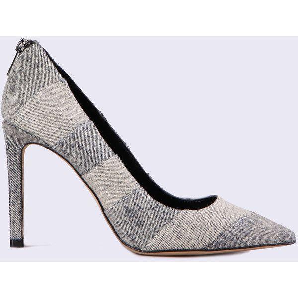 Diesel D-IPPER HP Heels ($220) ❤ liked on Polyvore featuring shoes, pumps, grey, heels, women, gray high heel shoes, high heel pumps, gray pumps, striped pumps and grey high heel pumps