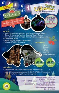 Los principales municipios de Boyacá se visten de luces y color para celebrar con nosotros la Navidad. Tiempo ideal para compartir con familia y amigos.