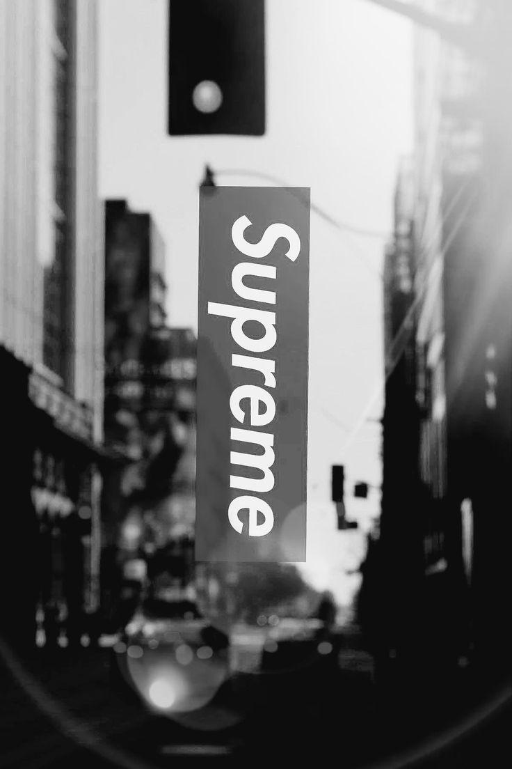 supreme wallpaper grayscale
