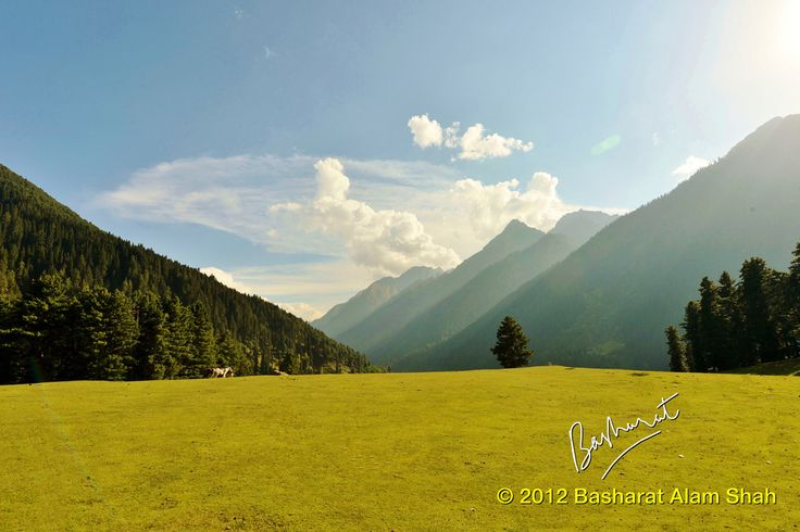 Places To Visit In Jammu And Kashmir : #Pahalgam.  Not far from the hustle and bustle of Srinagar is a pristine little hill-town called Pahalgam.   The area holds a rich cover of vegetation, the dominant forest consisting of conifers which account for over 90%. #India   #TravelToIndia    #Travel  (Pic by http://www.flickr.com/photos/shahbasharat/8375593822/ )