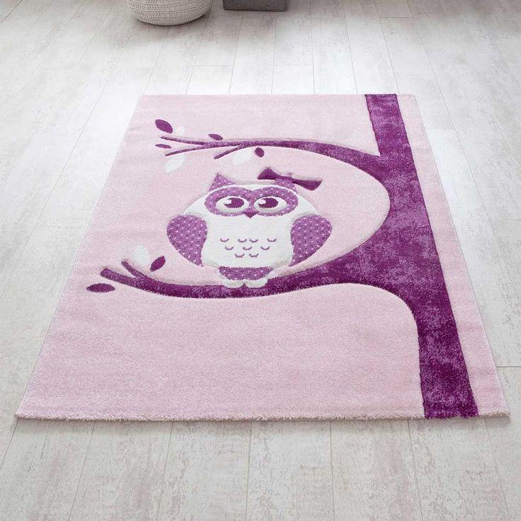 Marvelous Kinderzimmer Teppich mit Eule Motiv Rosa Lila Jetzt bestellen unter https moebel