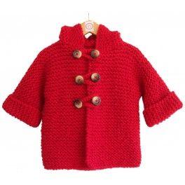 Chaqueta bebe hecha a mano en lana de primera calidad #jacket #handmade #wool #baby