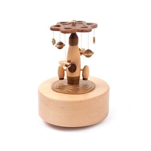 Wooden  Music Box Spaceship