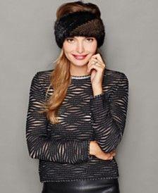 The Fur Vault Knitted Mink Headband