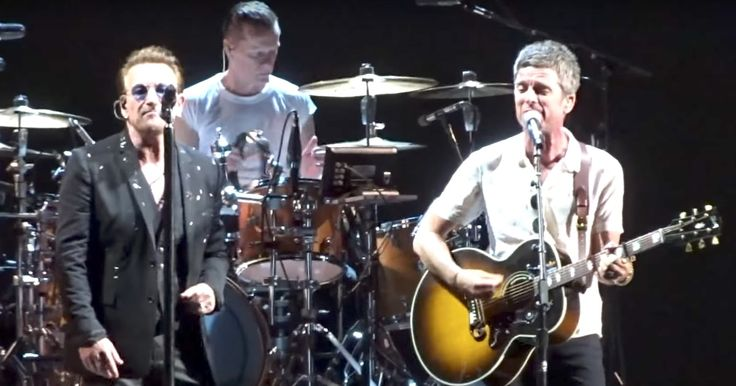 See U2, Noel Gallagher Perform Oasis' 'Don't Look Back in Anger' in London #headphones #music #headphones