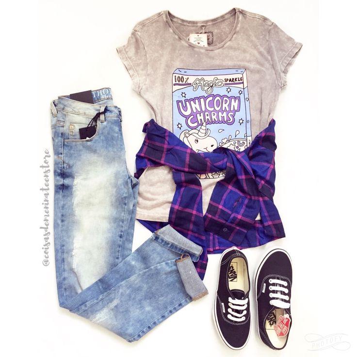 #jeans #skinny #vans #mundololita #unicorn #look #fashion  #xadrez #camisa #cute #teen