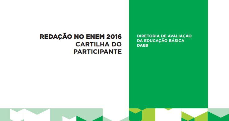 Cartilha do Participante da Redação do Enem de 2016