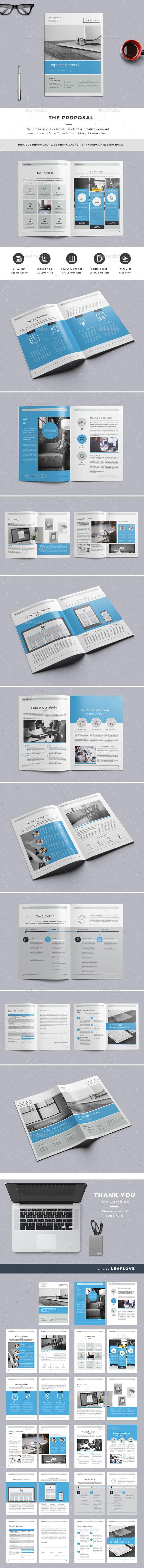 Proposal Template InDesign INDD #design Download: http://graphicriver.net/item/the-proposal/13596310?ref=ksioks