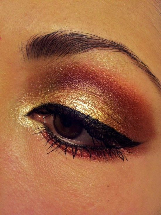 awesome: Gold Eyeshadow, Idea, Make Up, Fashion, Eye Makeup, Style, Color, Beauty, Hair