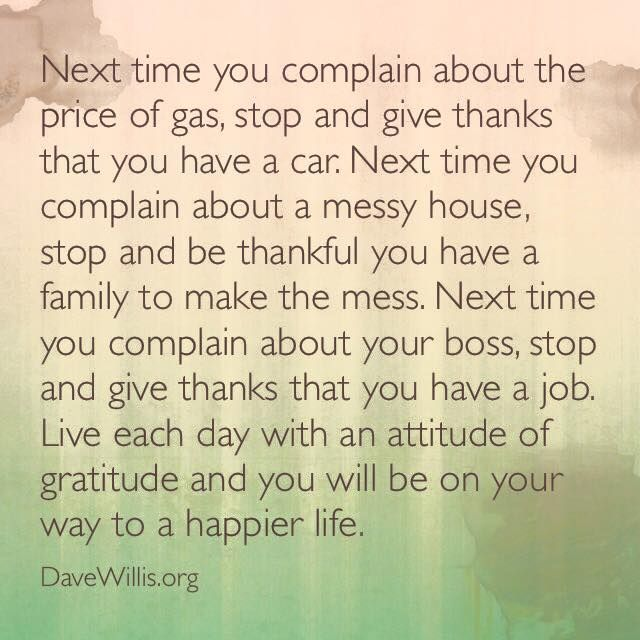 An attitude of gratitude can instantly improve your perspective!