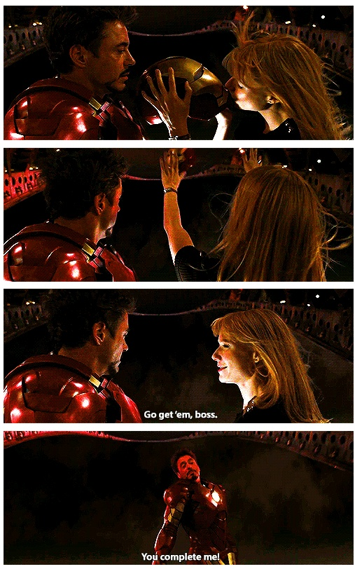 Iron Man 2. They are such a good couple.