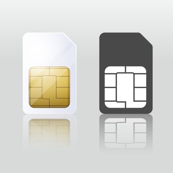 Sim card. Mobile telecommunication by Microvector on Creative Market