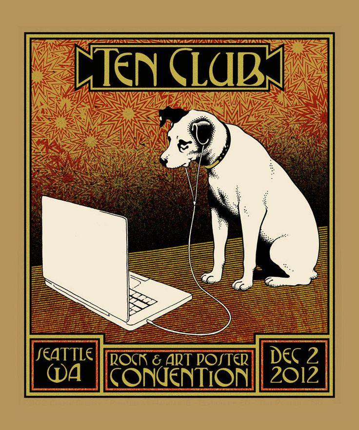 Chuck Sperry Pearl Jam Ten Club Poster