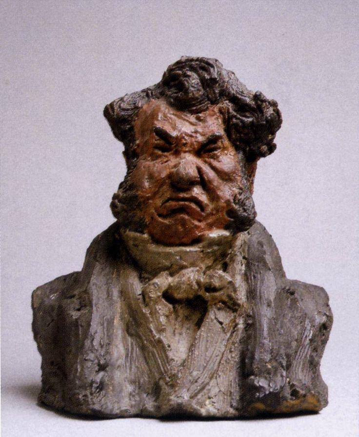 Honoré Daumier >> Laurent Cunin, Politicien (L homme en colère)  |  (reproduction, copie, tableau, oeuvre, peinture).