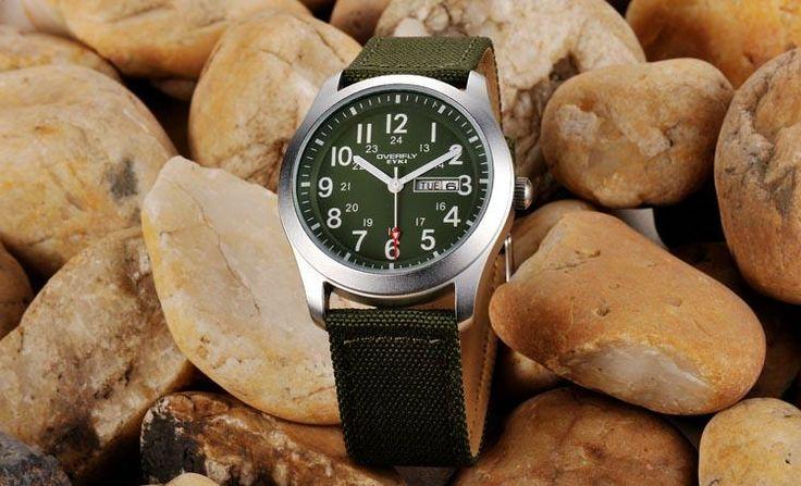 Armbandsur Eyki - Army Natoband (grön) #eyki #kimio #sportklocka #sportklockor #armbandsur #klocka #klockor #herrklocka #herrklockor #runns #watch #watches #nato #natoband #overfly