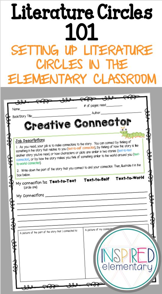 See how literature circles are set up in a second grade classroom!